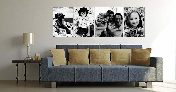 Cuadros personalizados con fotos de familia blog - Decorar con fotos familiares ...