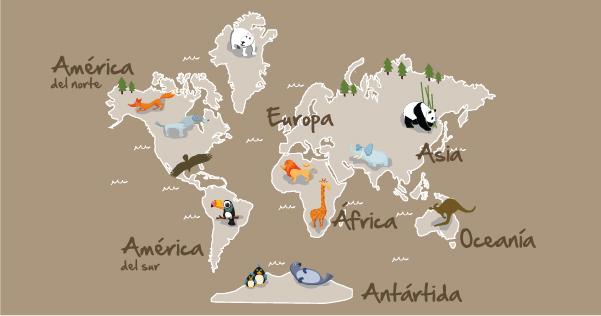 Vinilos de pared que te llevar n muy lejos blog - Vinilos mapa mundi ...